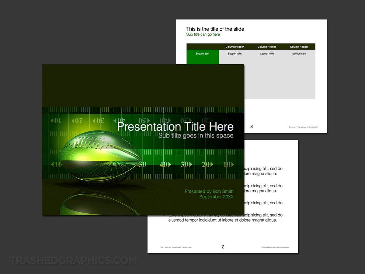 Football field theme PowerPoint