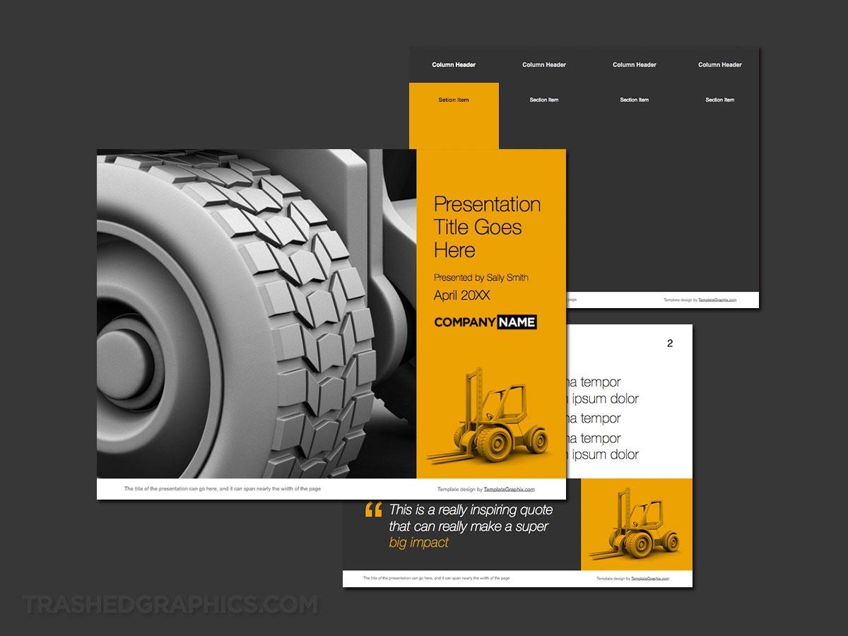Forklift ppt theme