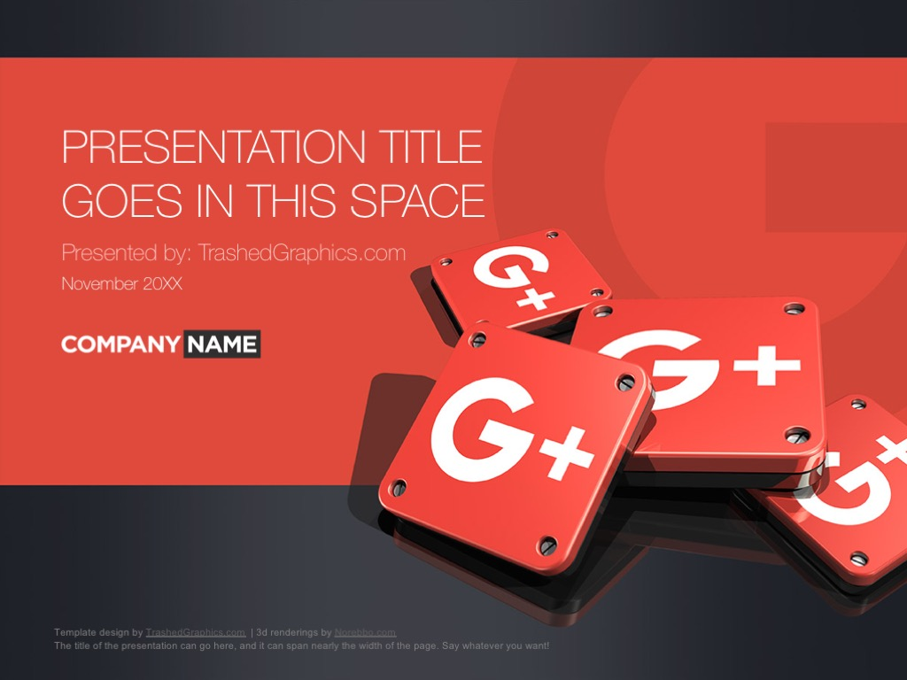Google plus PowerPoint design ideas