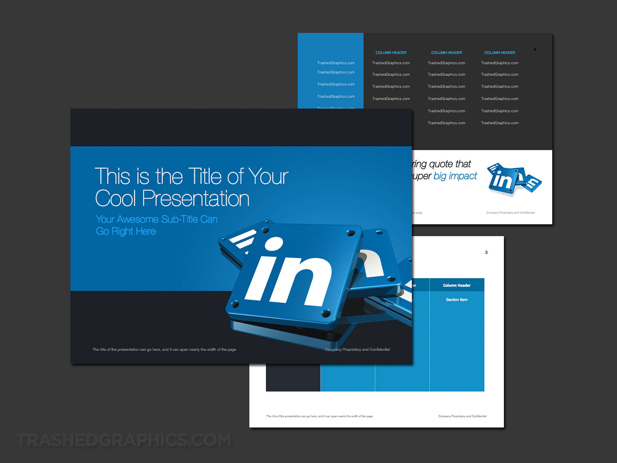 LinkedIn PowerPoint template