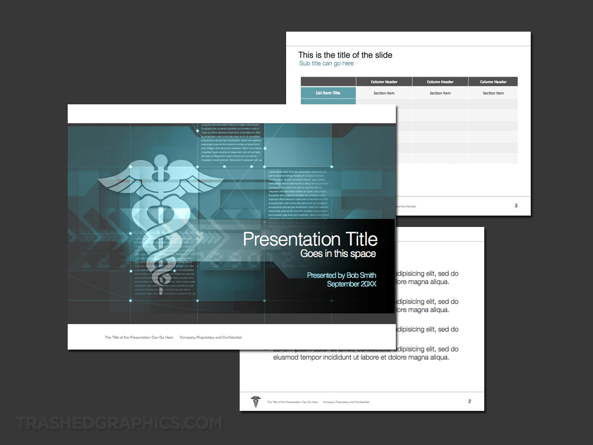 Beautiful medical PowerPoint template