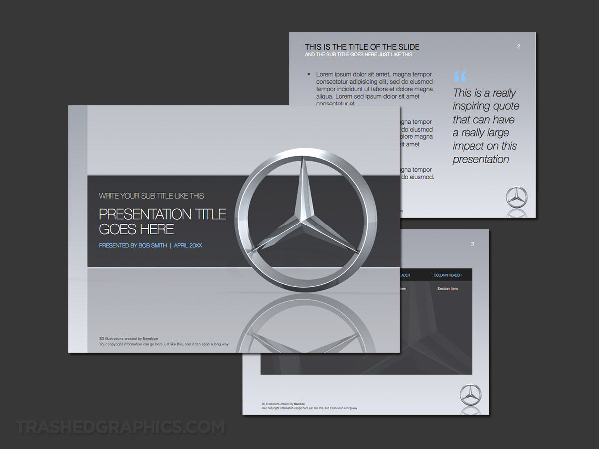 mercedes ppt template slides