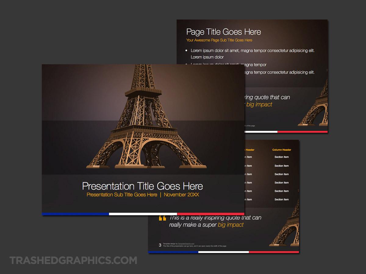 Paris Eiffel Tower ppt theme