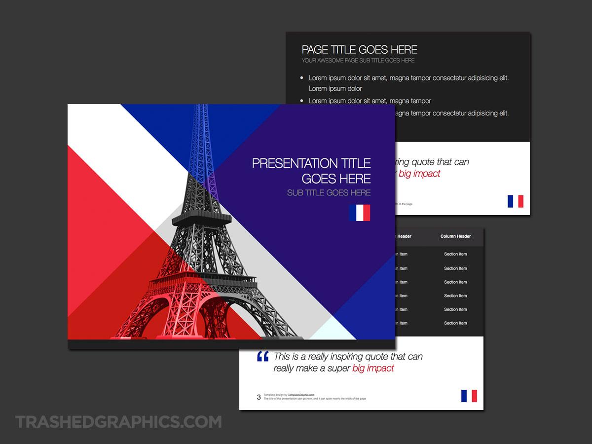 Paris France ppt theme