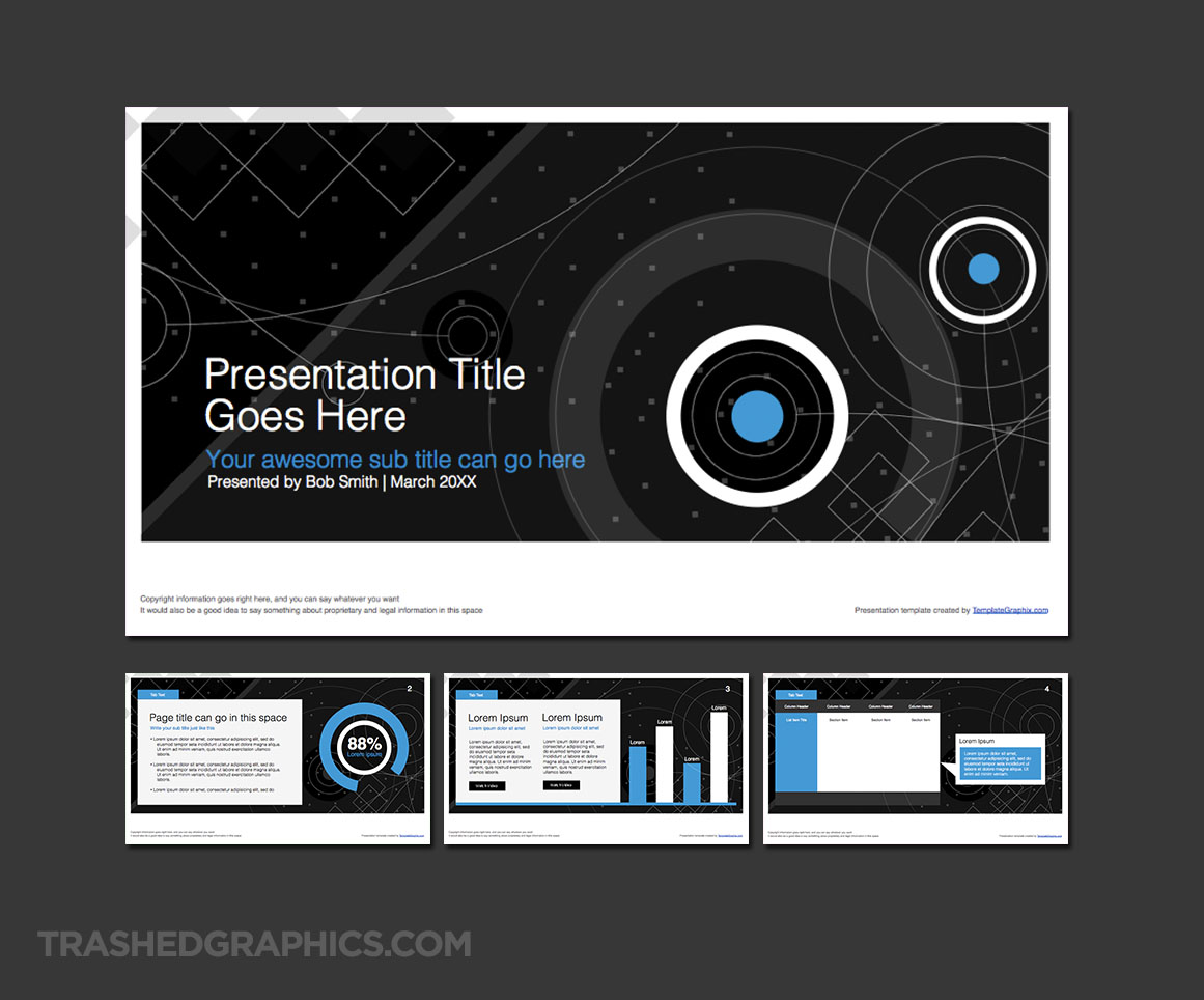 16:9 widescreen PowerPoint shapes template