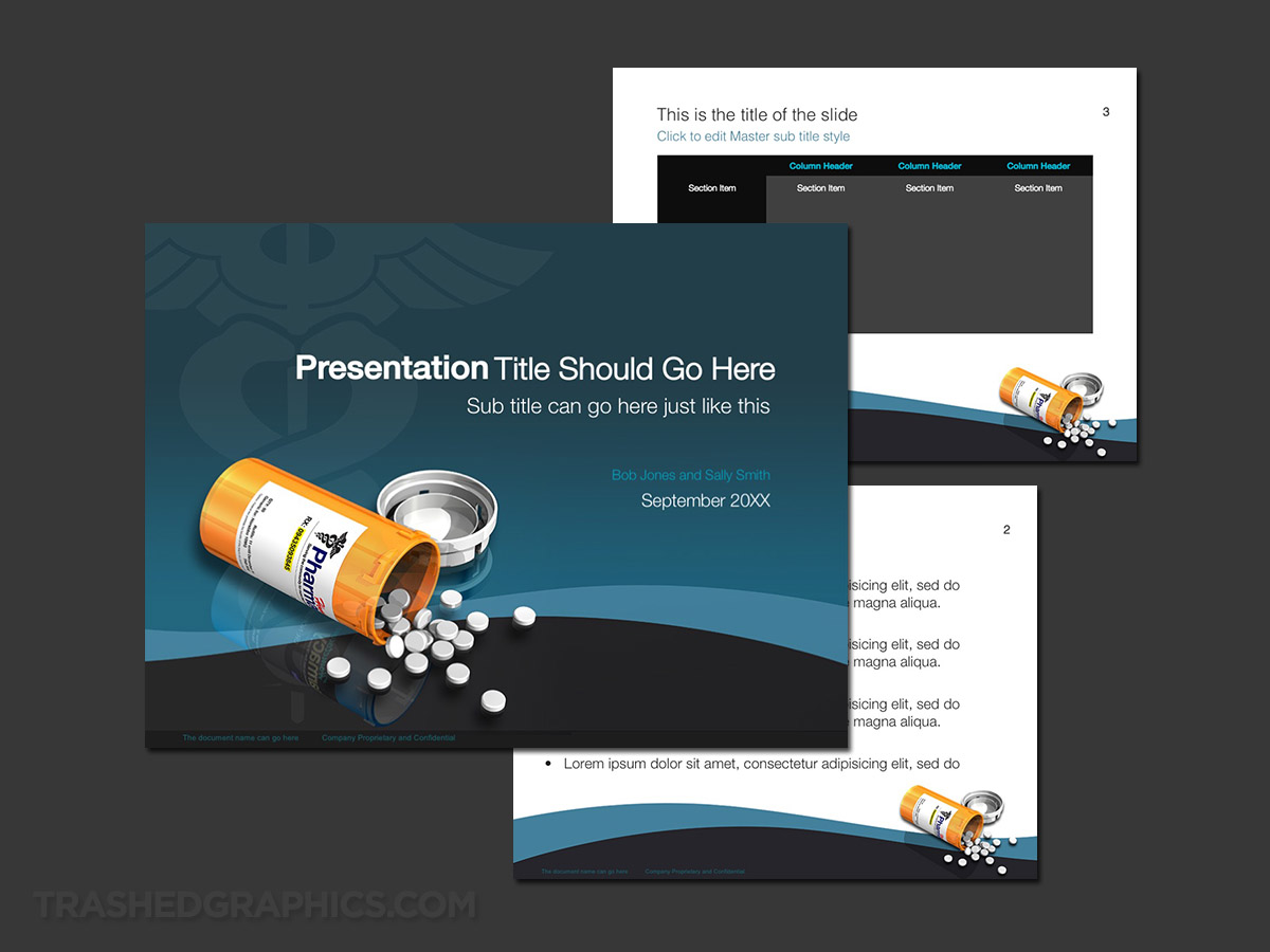 Prescription drug theme PowerPoint