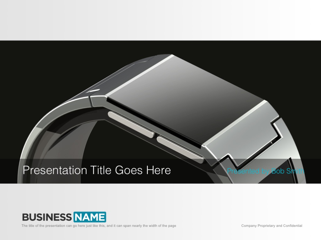 Wearables PowerPoint template slides