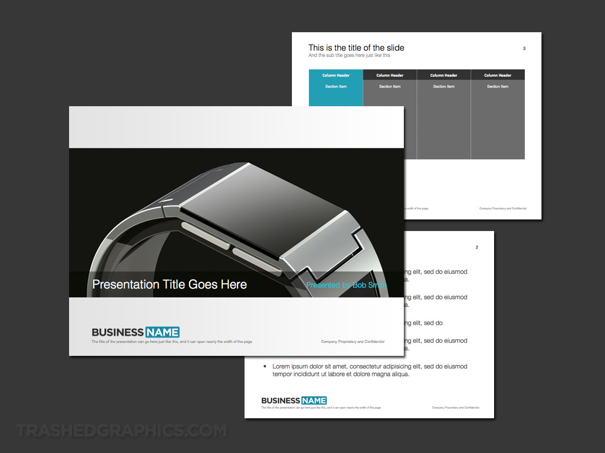 Smart watch PowerPoint template