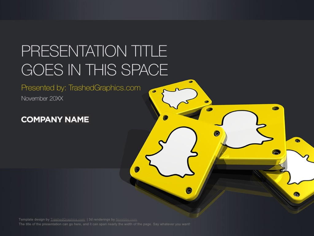 Snapchat PowerPoint slides