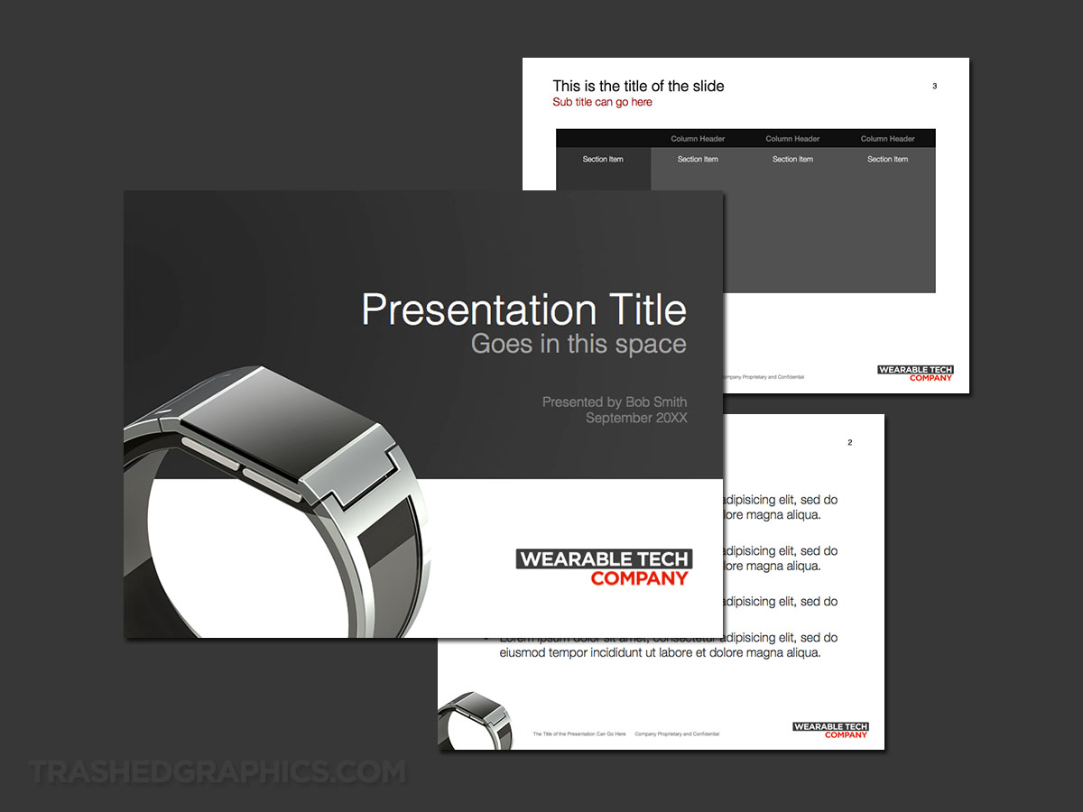 Wearable technology PowerPoint template