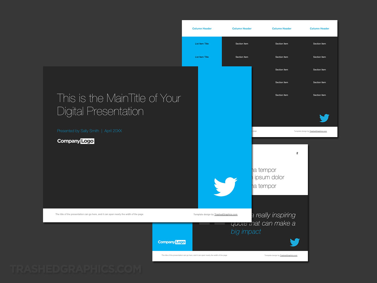 Twitter ppt slide deck