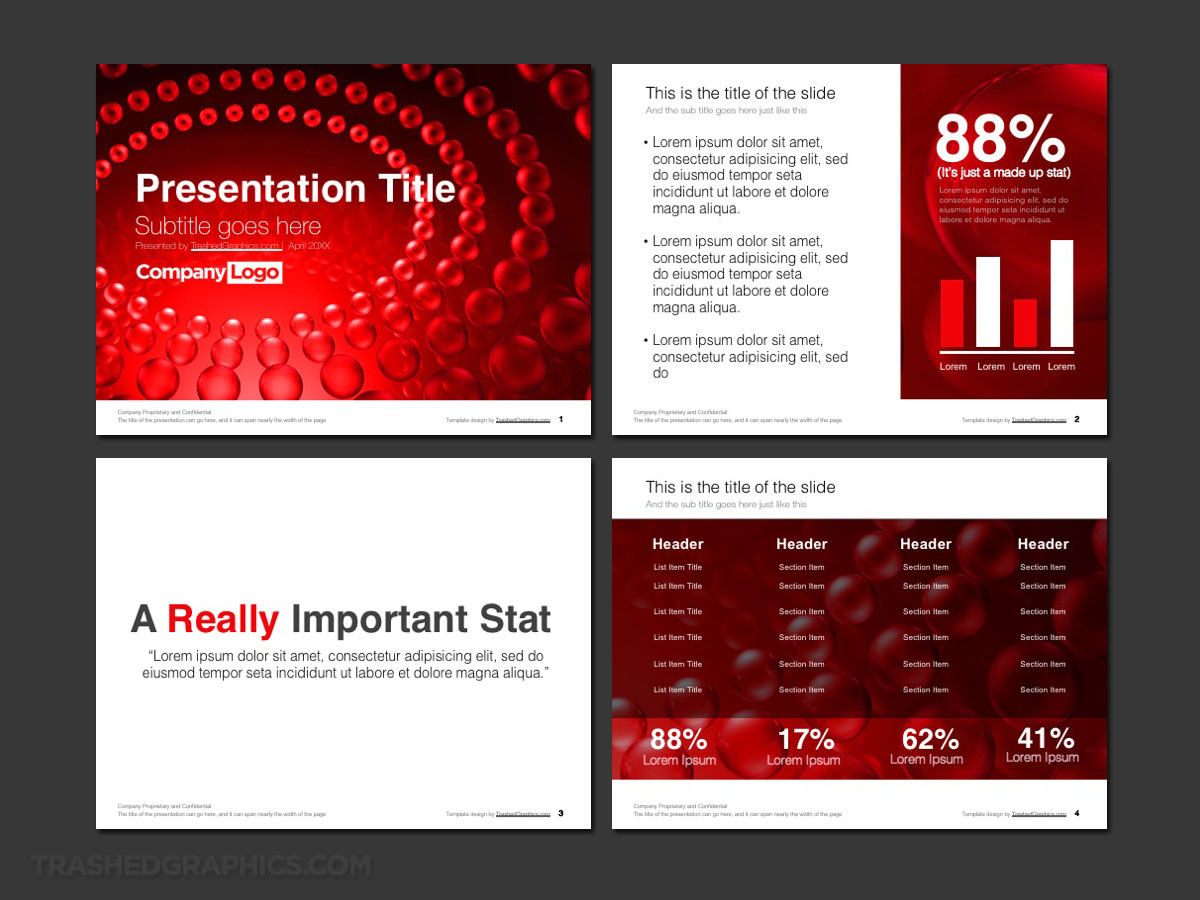 Red science PowerPoint template