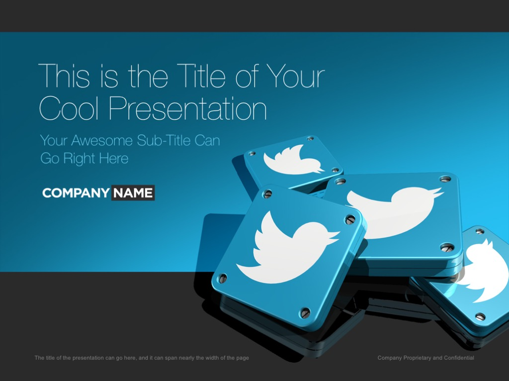 Twitter ppt social media marketing