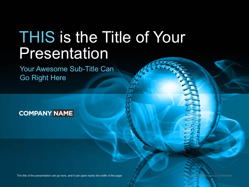 baseball_powerpoint template cover