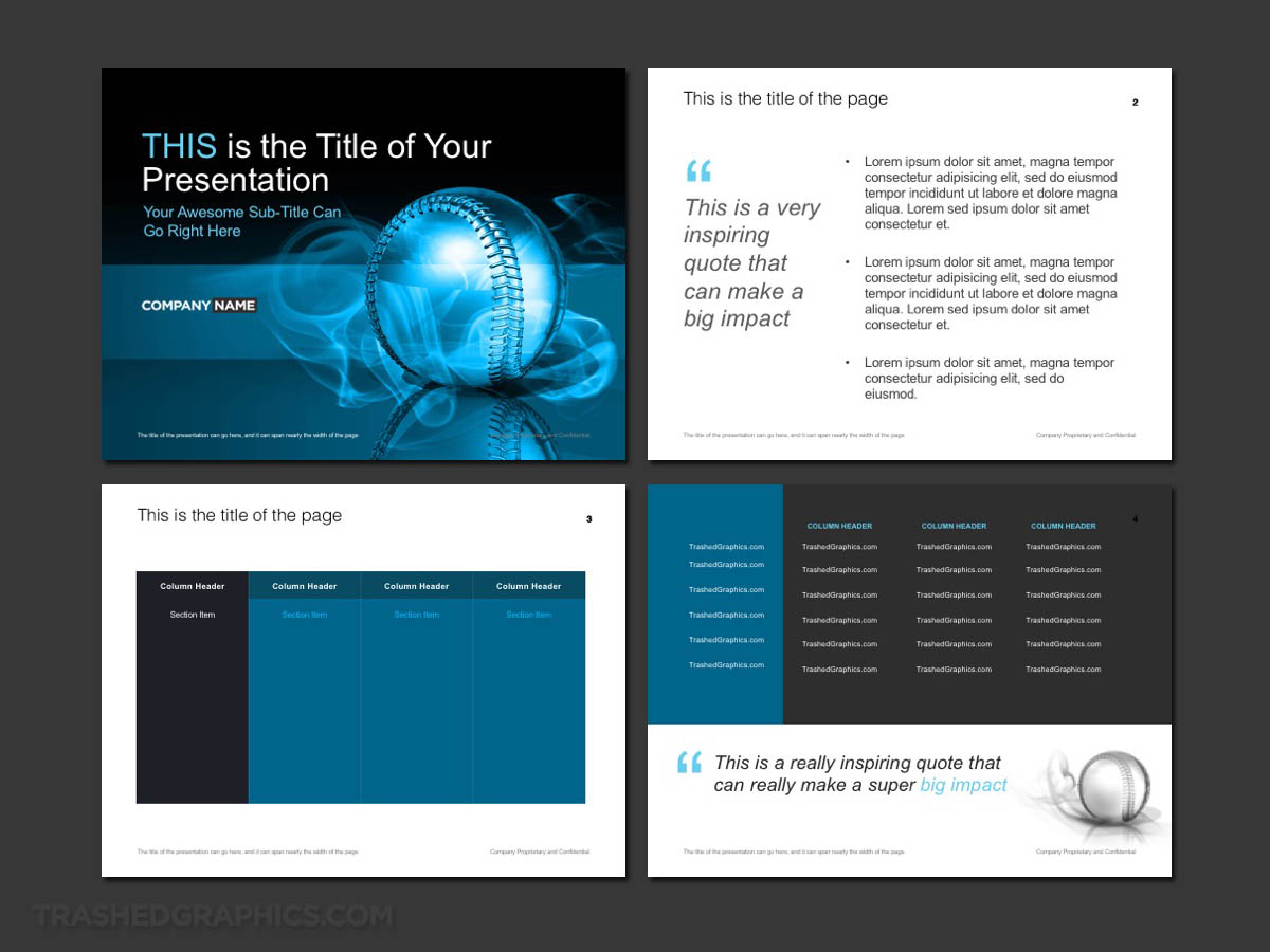 Baseball PowerPoint theme