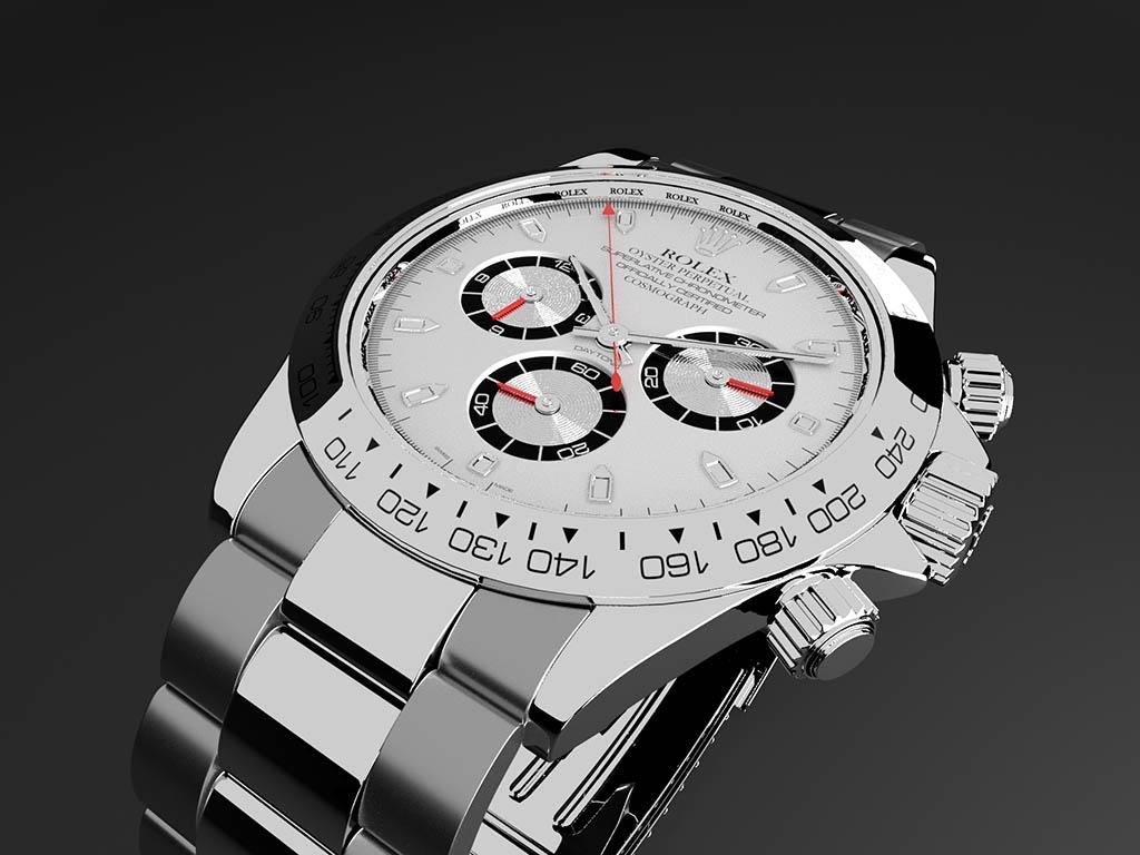 3d watch close up