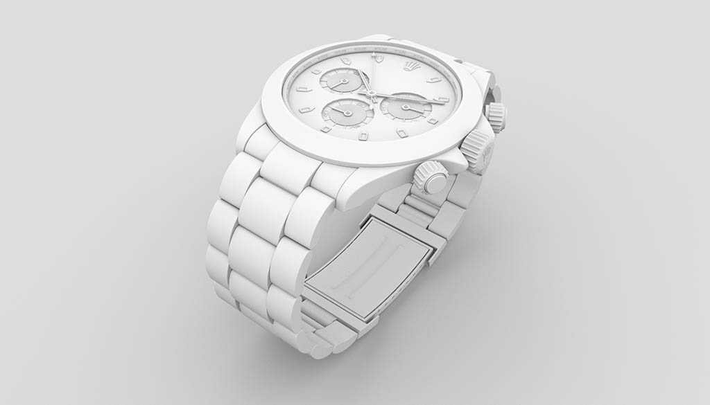 3D Watch ambient occlusion rendering
