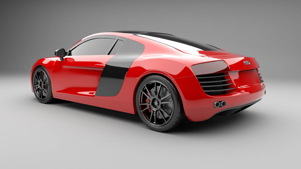 Audi R8 3d model renderedAudi R8 3d model renderedAudi R8 3d model rendered