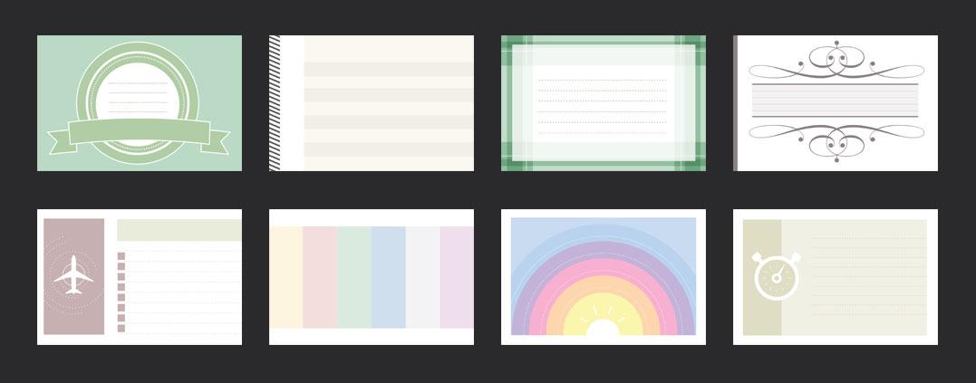 scrapbook cards horizontal