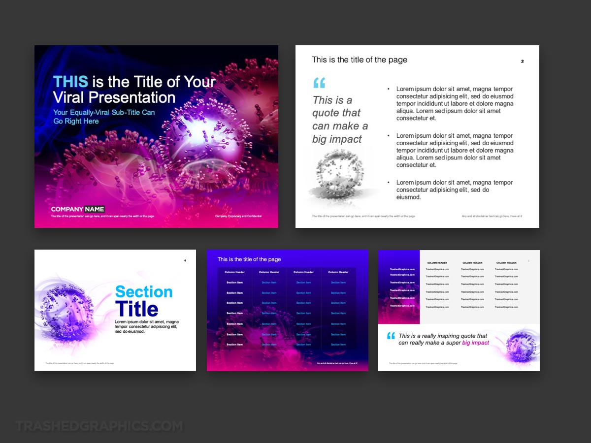 Virus PowerPoint Template preview