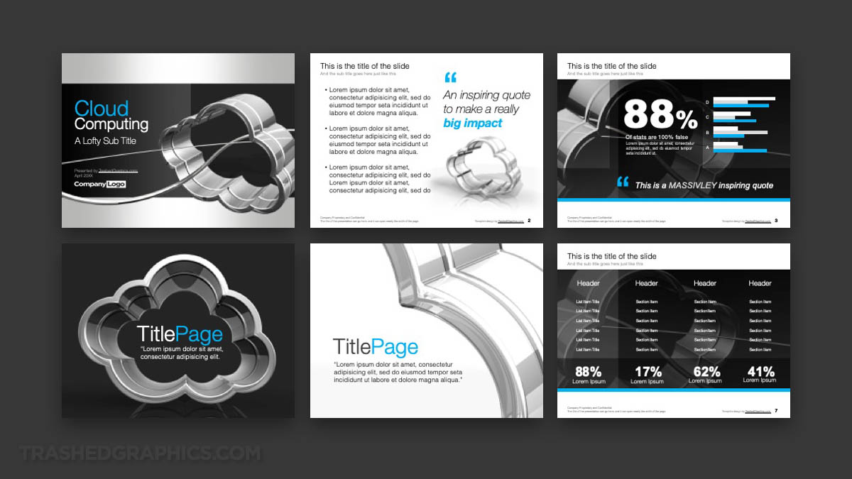 6-page Cloud Computing PowerPoint Template