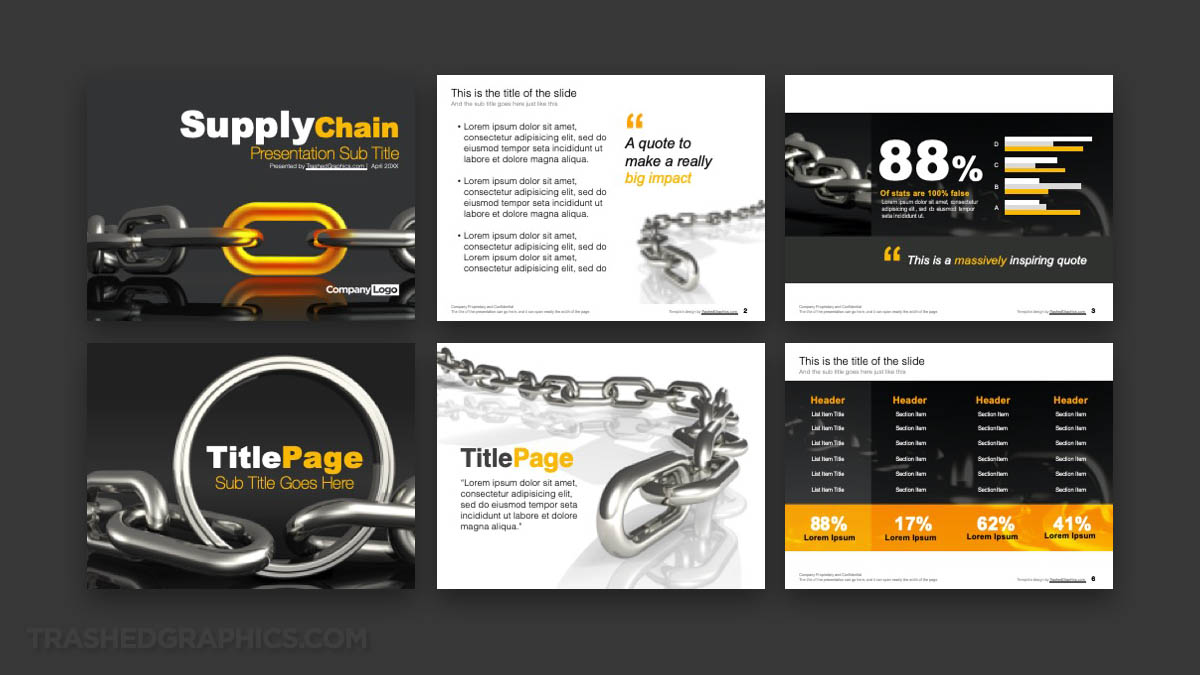 Supplier Chain Management PowerPoint template preview