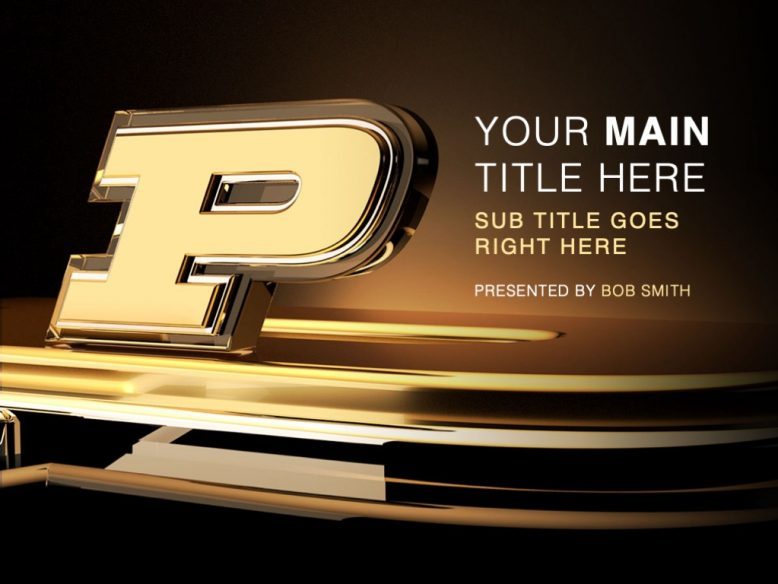 Purdue PowerPoint template preview
