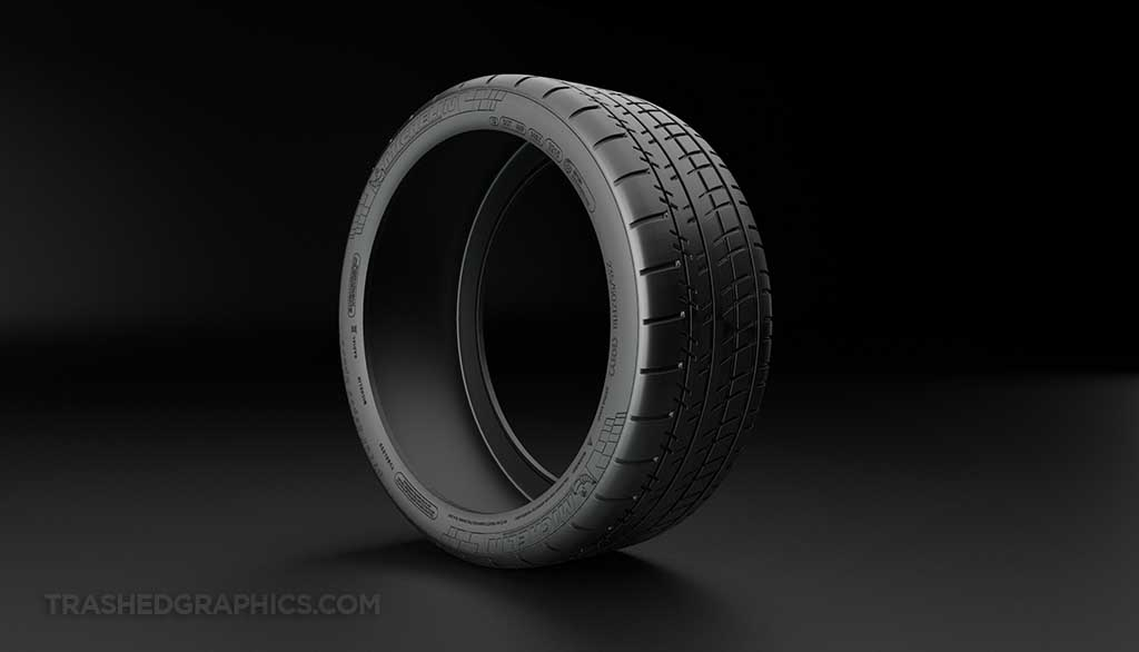 Michelin Pilot Super Sport tire front 3/4 view
