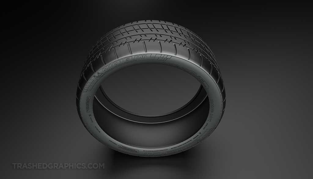 Michelin Pilot Super Sport tire top down view