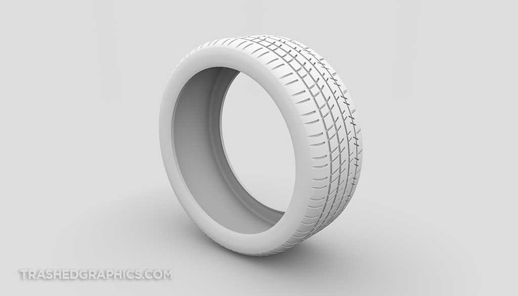 Michelin Pilot Super Sport tire ambient occlusion model