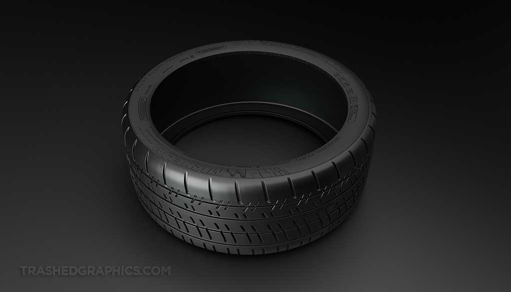 Michelin Pilot Super Sport tire 3-d model