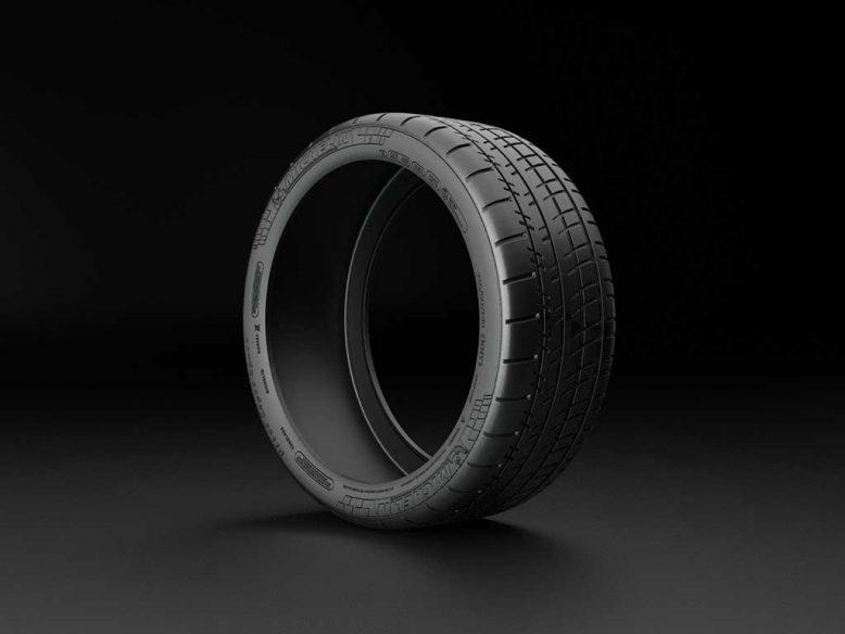 michelin pilot super sport tire 3d model