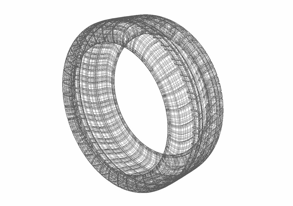 Michelin Pilot Super Sport tire wireframe model